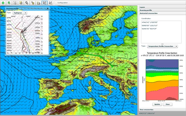 Traditional Weather Map.Flexi Weather Opengis Web Client Demo